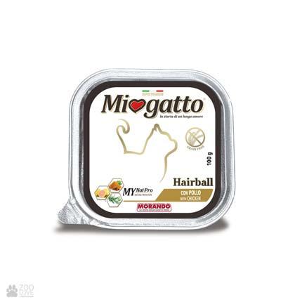Morando Miogatto Hairball, беззерновые консервы для кошек для выведения шерсти