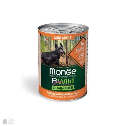Консервы для собак с уткой Monge B-Wild Mini Adult with Duck Grain Free