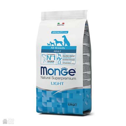 Корм для собак с лишним весом Monge All Breeds Adult Light