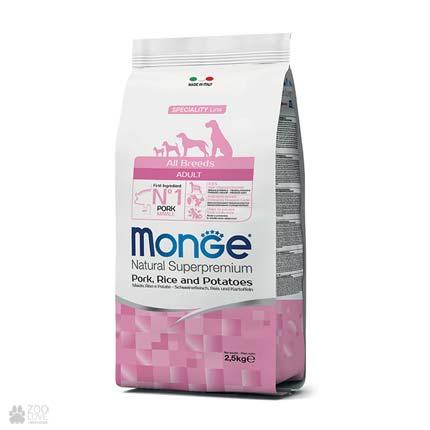 Корм для собак всех пород Monge All Breeds Pork