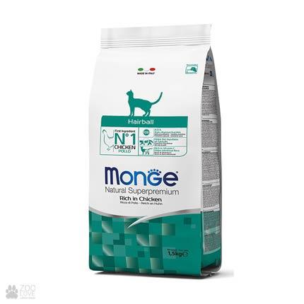 Упаковка корма Monge Hairball для кошек, 1,5 кг