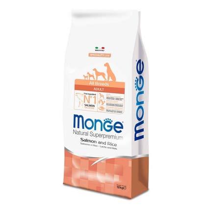 Корм для собак всех пород Monge Adult Salmon