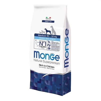 Корм для щенков средних пород Monge Medium Puppy & Junior