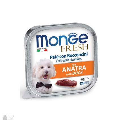 Консервы для собак с уткой Monge Fresh Duck