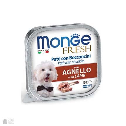 Консервы для собак с ягненком Monge Fresh Lamb