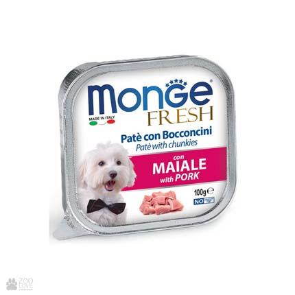 Консервы для собак со свининой Monge Fresh Pork