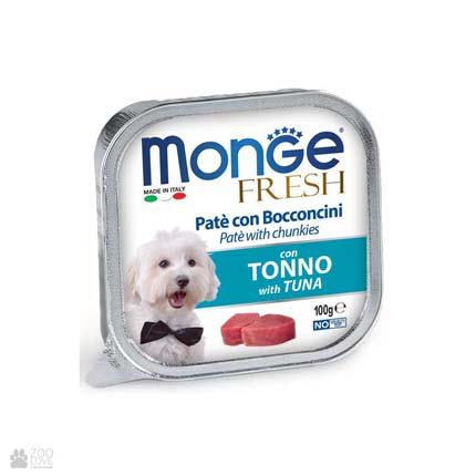 Консервы для собак с тунцом Monge Fresh Tuna