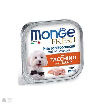 Консервы для собак с индейкой Monge Fresh Turkey