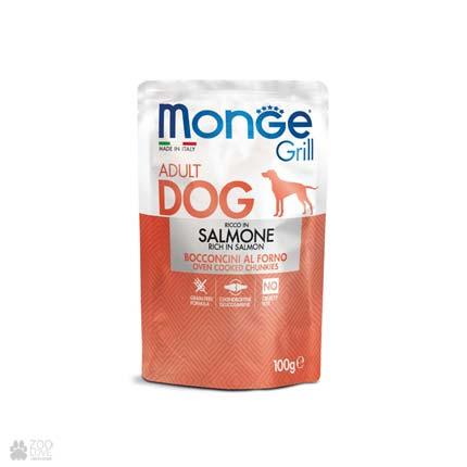 Консервы для собак с лососем Monge Grill Salmon Pouch