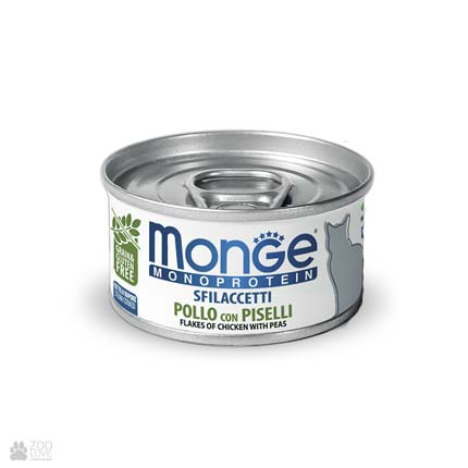 Консервы для кошек с курицей и горошком Monge Monoprotein Solo Chicken With Peas