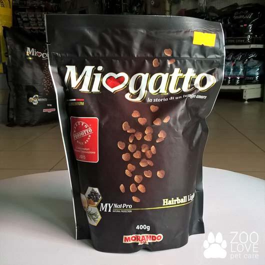 Фото корма сухого Міогатто для выведения шерсти 0.5, 400 г