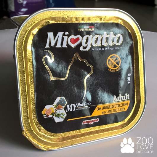 Фото корма влажного Морандо Миогатто для кошек с ягнятиной и индейкой, 100 г