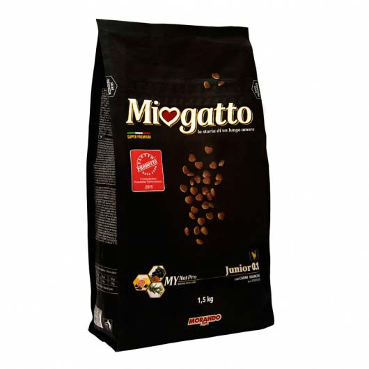 Фото упаковки корма сухого Morando Miogatto для котят 0.1 с птицей, 1,5 кг
