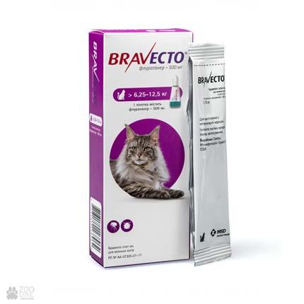 капли от блох и клещей Bravecto Spot-On для кошек весом 6,25-12,5 кг