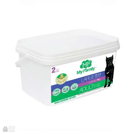 сухой корм для собак крупных пород с ягненком My Family Adult Large Breeds Lamb 2 кг
