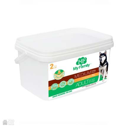 сухой корм для собак средних пород с курицей My Family Adult Medium Chicken 2 кг