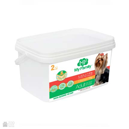 сухой корм для собак малых пород с курицей My Family Adult Mini Chicken 2 кг