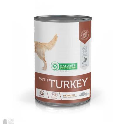 Nature's Protection Turkey Adult, консервы для собак с индейкой