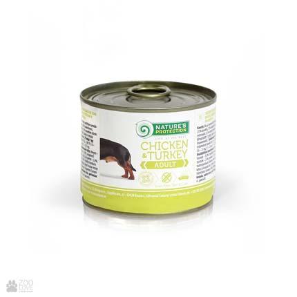 консервы для собак с курицей и индейкой Nature's Protection Adult Chicken & Turkey