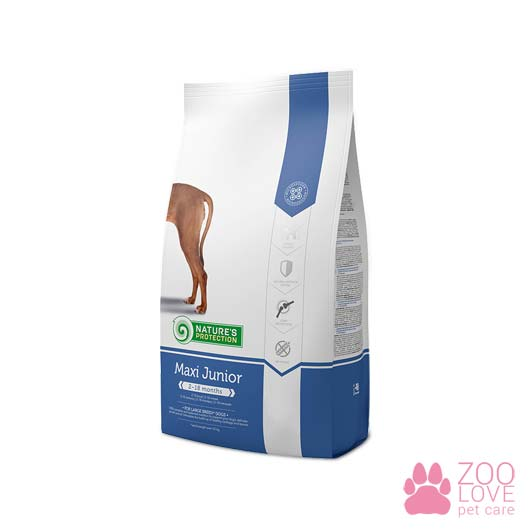 Сухой корм для подрастающих щенков Nature's Protection Maxi Junior