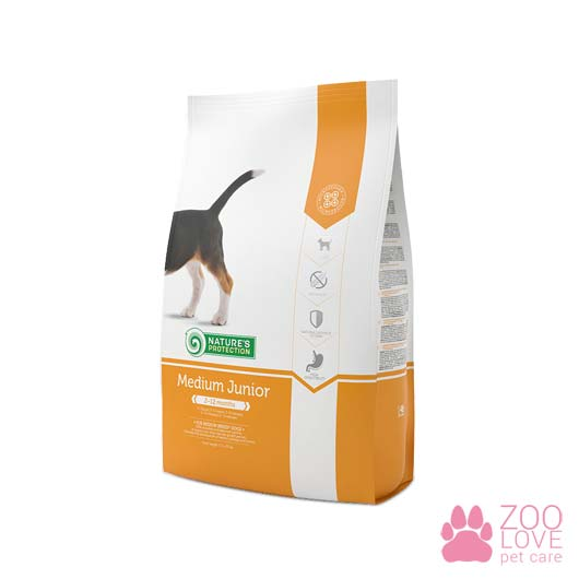 Упаковка сухого корма для собак Natures Protection Medium Junior