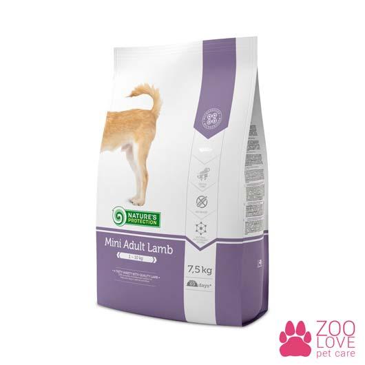 Упаковка сухого корма для собак Natures Protection Mini Adult Lamb 7,5 кг