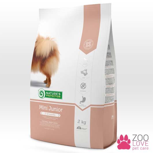 Фото упаковки корма для собак Natures Protection Mini Junior, 2 кг
