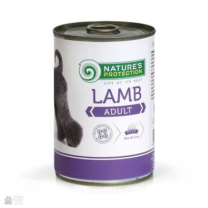 Консервы для щенков Nature's Protection Adult Lamb, 400 грамм