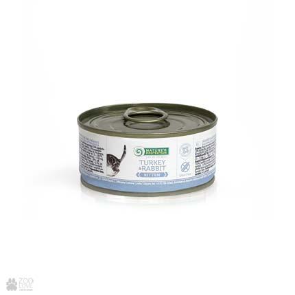 Консервы для котят Nature's Protection Kitten Turkey & Rabbit, 100 грамм
