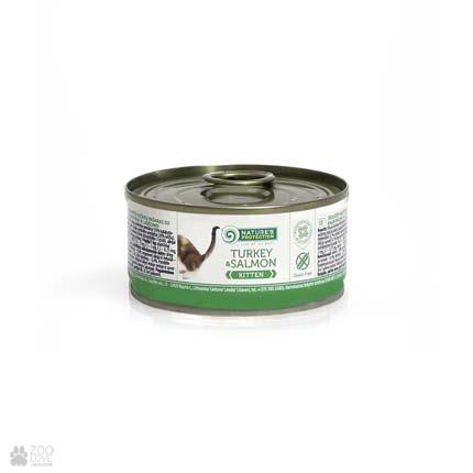 консервы для котят Nature's Protection Kitten Turkey & Salmon, банка 100 г