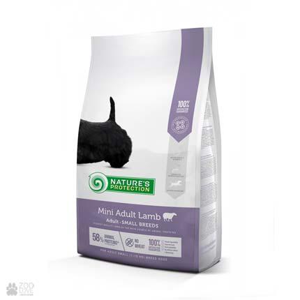 Сухой корм для собак малых пород Natures Protection Mini Adult Lamb (упаковка с 2020 года)