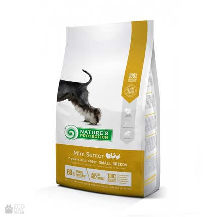 Cухоq корм для пожилых собак мини пород Natures Protection Mini Senior (Упаковка с 2020 года)