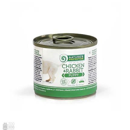 Nature's Protection Puppy Chicken & Rabbit, консервы для щенков, 200грамм