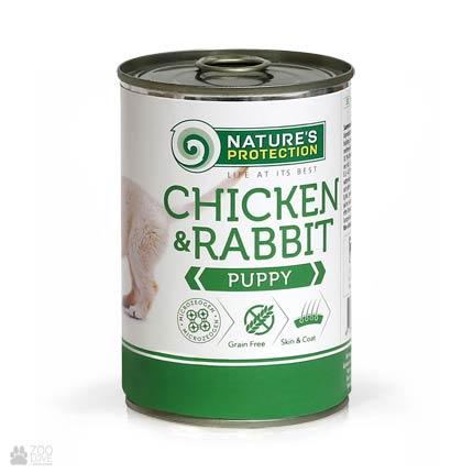 Nature's Protection Puppy Chicken & Rabbit, консервы для щенков, 400 грамм