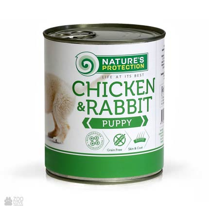 Nature's Protection Puppy Chicken & Rabbit, консервы для щенков, 800 грамм