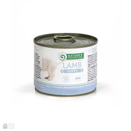 Консервы для щенков Nature's Protection Puppy Lamb, 200 грамм