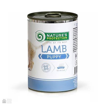 Консервы для щенков Nature's Protection Puppy Lamb, 400 грамм
