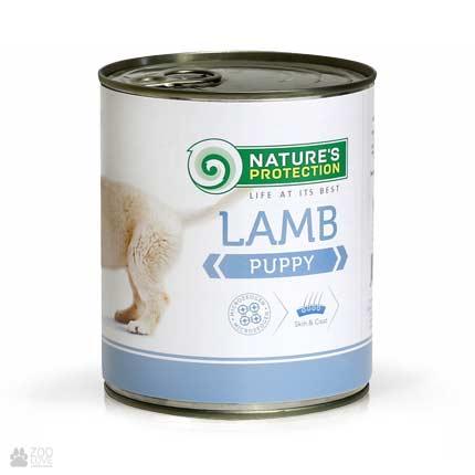 Консервы для щенков Nature's Protection Puppy Lamb, 800 грамм