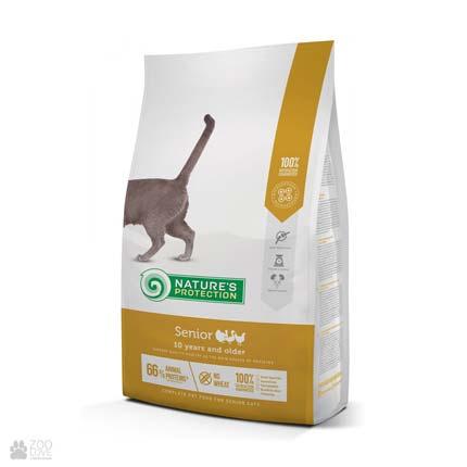 Nature's Protection Senior, сухой корм для пожилых кошек, упаковка 2 кг (новый дизайн)