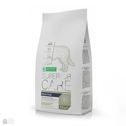 Упаковка сухого корма для собак с черной шерстью Натур Протекшн Nature's Protection Superior Care Black Coat