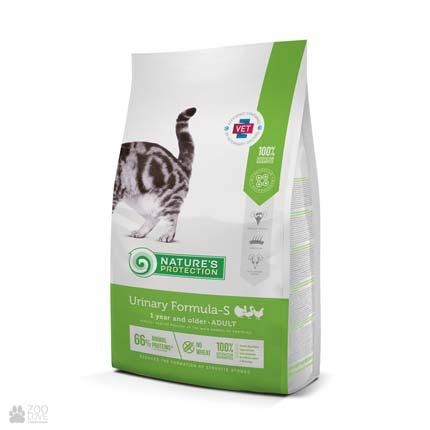Сухой корм для кошек Nature's Protection Urinary Formula-S, 2 кг (новый дизайн)