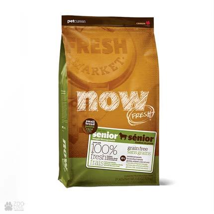 Сухой корм для пожилых собак малых (мини) пород Now Fresh Small Breed Senior Grain Free