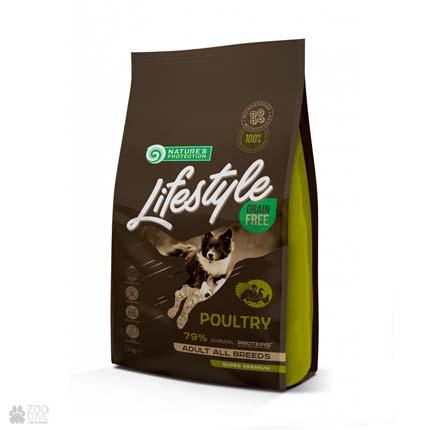 корм для собак всех пород Lifestyle Grain Free Poultry Adult All Breeds