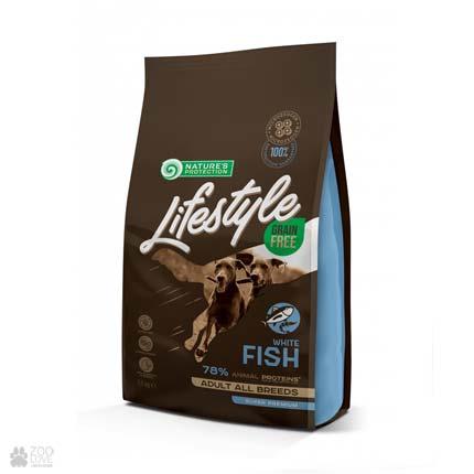корм для собак всех пород Lifestyle Grain Free White Fish Adult All Breeds
