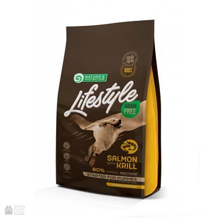 корм для щенков Lifestyle Grain Free Lifestyle Grain Free Starter For Puppies Salmon with Krill