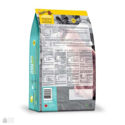 корм для котов с чувствительным пищеварением Nutram Ideal Solution Support Skin Coat Stomach )обратная сторона упаковки