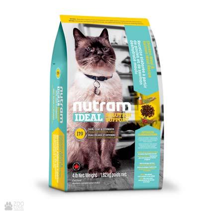 корм для котов с чувствительным пищеварением Nutram Ideal Solution Support Skin Coat Stomach
