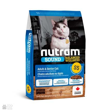 холистик корм для котов Nutram Sound Balanced Wellness Adult & Senior Cat (дизайн с 2020 года)