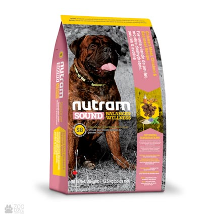 холистик корм для крупных собак S8 Nutram Sound Balanced Wellness Large Breed Adult Dog