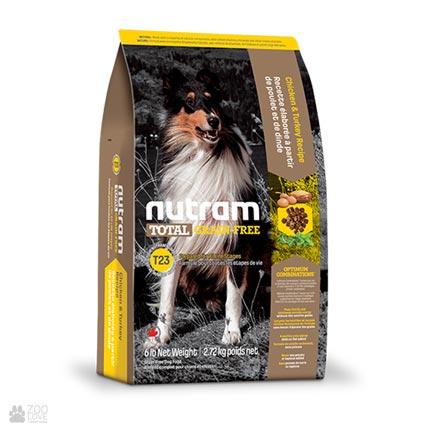 беззлаковый холистик корм для собак Nutram Total GF Turkey, Chiken & Duck